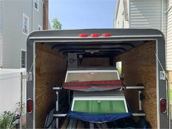 Three opti enclosed trailer