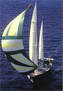 Two masts sailing yacht