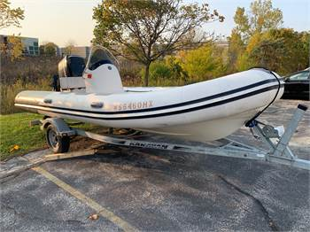SOLD!!!  Fresh Water 2007 Mercury, Rigid Inflatable (RIB) power boat, 5.2 meter (17')